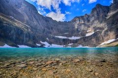 Lac iceberg, parc national de glacier, Montana images libres de droits