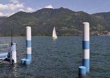 Lac Iseo, Lombardie, Italie Images libres de droits
