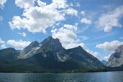 Lac jackson et le Tetons grand Photographie stock