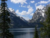 Lac jackson, Teton grand photo stock