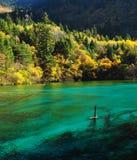 Lac Jiuzhaigou Photo stock
