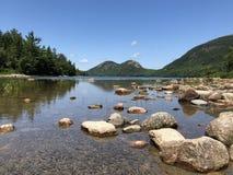 Lac jordan Pond dans le port de barre, Maine image stock