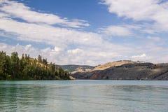 Lac Kalamalka en Colombie-Britannique Photo stock