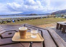 Lac Kawaguchi Photo stock