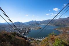 Lac Kawakuchi de Tenjosan Photo libre de droits