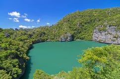Lac Ko Mae Ko en Ang Thong Marine National Park, au sud de thail Image libre de droits
