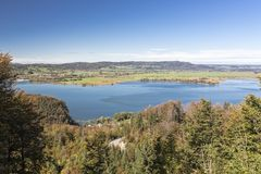 Lac Kochelsee en Bavière, Allemagne Images libres de droits