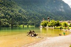 Lac Konigssee, connu sous le nom de ` le lac le plus profond et le plus propre de s de l'Allemagne images libres de droits
