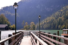 Lac Konigssee l'allemagne Image stock