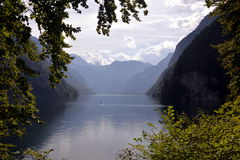 Lac Konigssee l'allemagne Photographie stock
