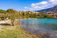 Lac Kournas, Crète, Grèce Photo stock
