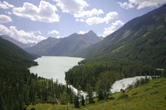 Lac Kucherlinskoe, l'Altay, Russie Photos stock