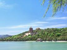 Lac kunming au palais d'été majestueux, Pékin, Chine photo libre de droits