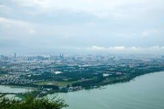 Lac kunming Dianchi Photos stock