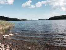 Lac Ladoga à l'été Photos stock