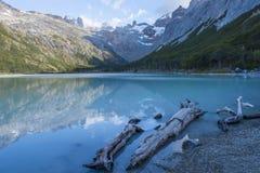 Lac laguna Esmeralda en Tierra del Fuego Image stock