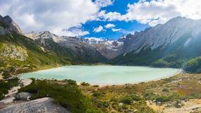 Lac laguna Esmeralda en Tierra del Fuego Photographie stock libre de droits