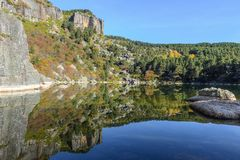 Lac laguna Negra à Soria, Espagne Photos libres de droits