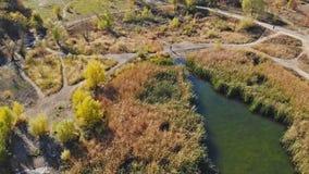 Lac landscape de l'altitude dans la ville dans Uzhgorod banque de vidéos