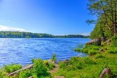 Lac landscape pour la pêche Photos libres de droits