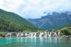 Lac Lanyue chez Jade Dragon Snow Mountain Photo libre de droits