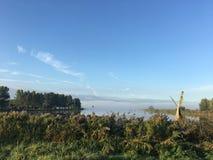 Lac le Geeuw pendant le matin dans Sneek Photo libre de droits