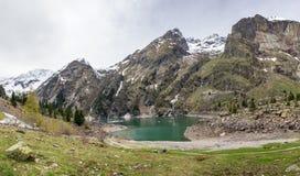 Lac Le Lauvitel mountain photo libre de droits