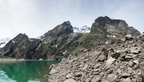 Lac Le Lauvitel mountain photo stock