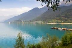 Lac Ledro en Italie Images libres de droits