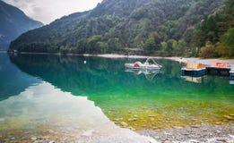 Lac Ledro, Italie Images libres de droits