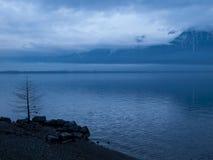 Lac Leman после дождя Стоковая Фотография