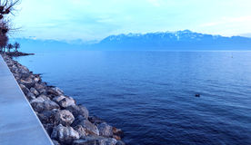 Lac Leman and French Alps Stock Photos