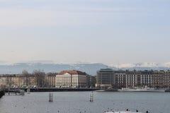 Lac Leman Geneve Photos libres de droits