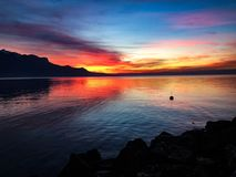 Lac leman. Sunshine, lac leman,beautiful,nofilter Royalty Free Stock Photography