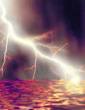 Lac lightning Photos libres de droits