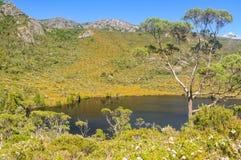 Lac Lilla - montagne de berceau image stock