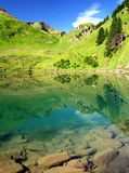 Lac Liosson. Swiss Alps Europe - Lac Liosson Royalty Free Stock Images