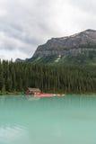Lac Loiuse Alberta Canada Photo stock