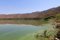 Lac Lonar d'Inde Photos libres de droits