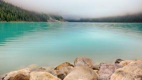 Lac Louise Dawn, parc national de Banff image stock