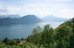 Lac Lucern en Suisse Images libres de droits
