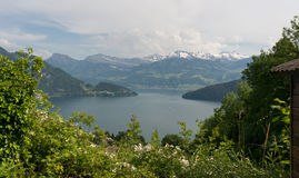 Lac Lucern en Suisse Photographie stock