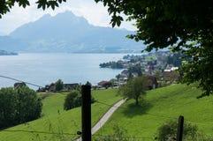 Lac Lucern en Suisse Images stock