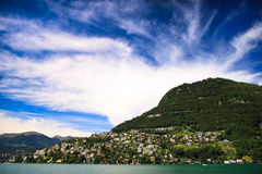 Lac Lugano Photographie stock