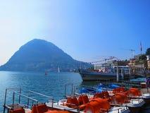 Lac Lugano Images libres de droits