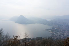 Lac Lugano Photo libre de droits