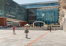 LAC Lugano kultury i sztuki muzeum, jest wielkim kulturalnym centrum w mieście Lugano w kantonie Ticino który lokalizuje wewnątrz Obrazy Stock