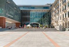 LAC Lugano kultury i sztuki muzeum, jest wielkim kulturalnym centrum w mieście Lugano w kantonie Ticino który lokalizuje wewnątrz Zdjęcie Royalty Free