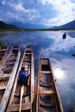 Lac Lugu photographie stock libre de droits