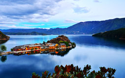 Lac Lugu photographie stock